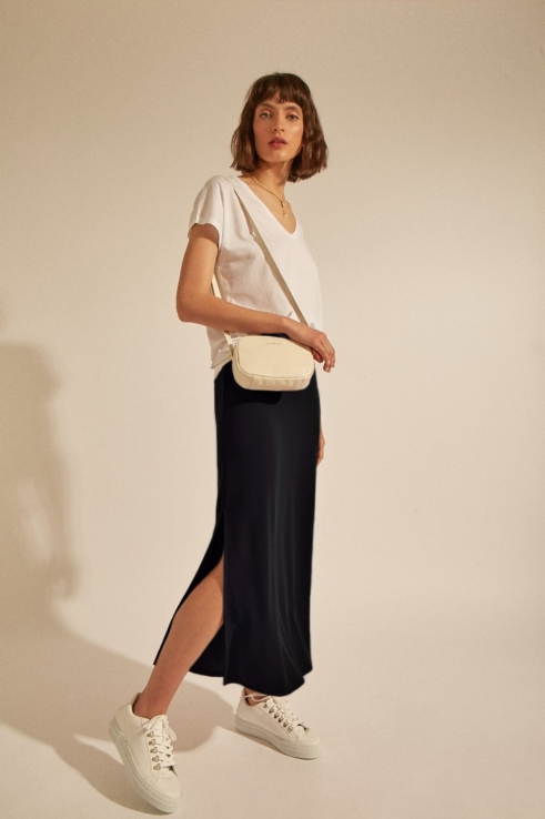 falda maxi carbón