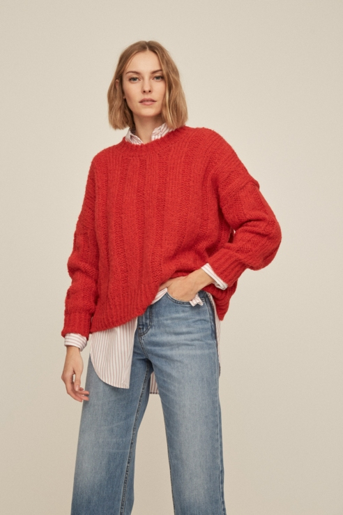 jersey mohair rojo