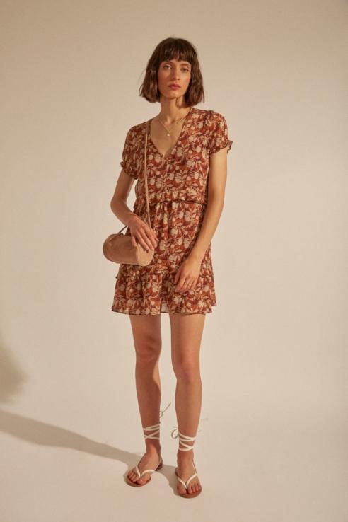 robe fleurie volants