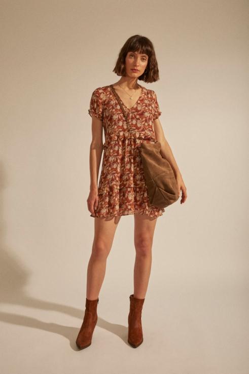 ruffled flower dress