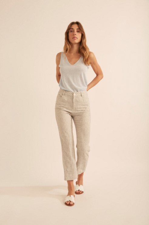 vertical stripes trousers