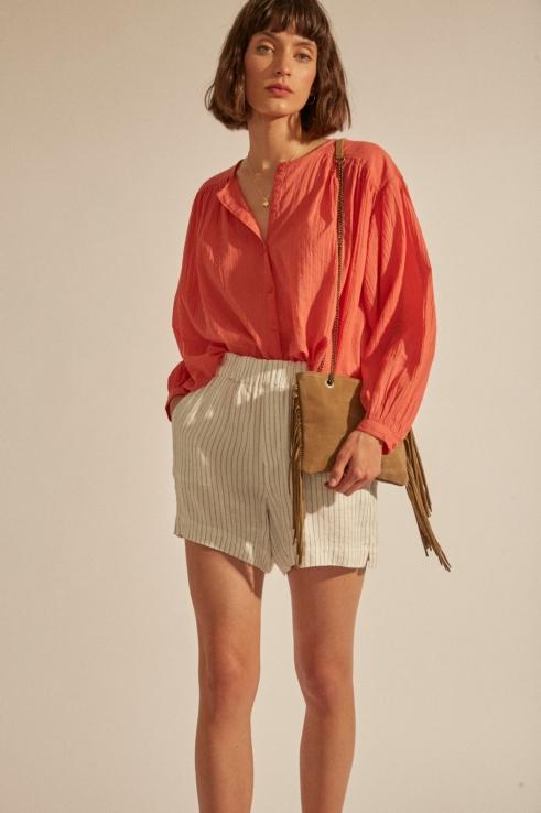 off white stripes shorts