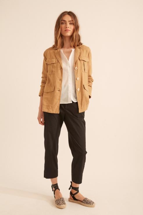 chaqueta sahariana ante