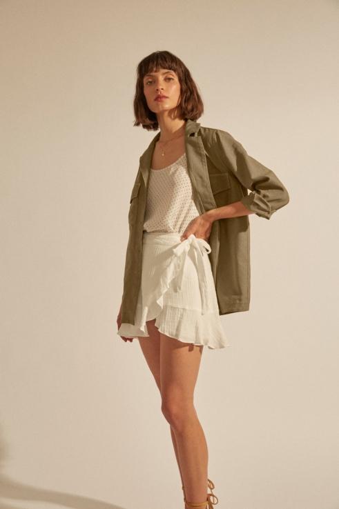 chaqueta sobrecamisa militar