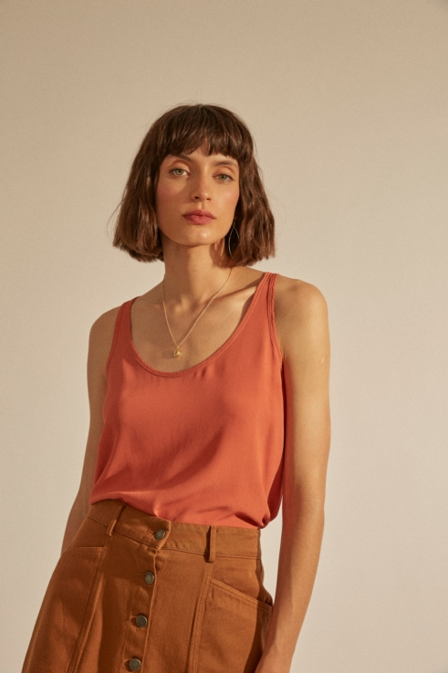 ginger flowy top