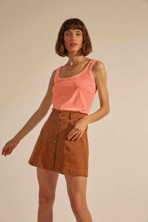 soft coral tank top