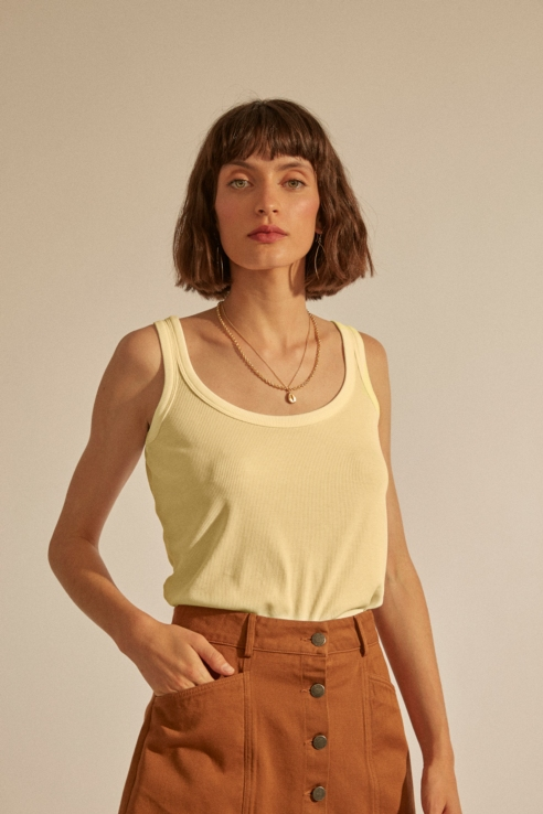 soft lemon tank top