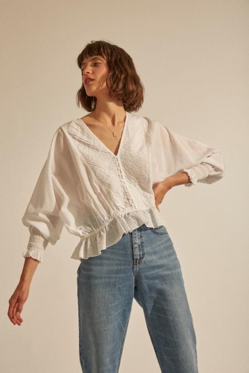 blouse romantique avec pinces
