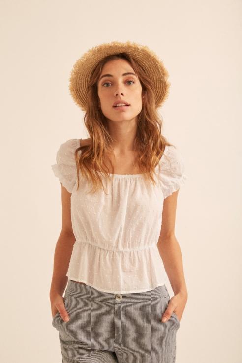 blouse d'inspiration folk