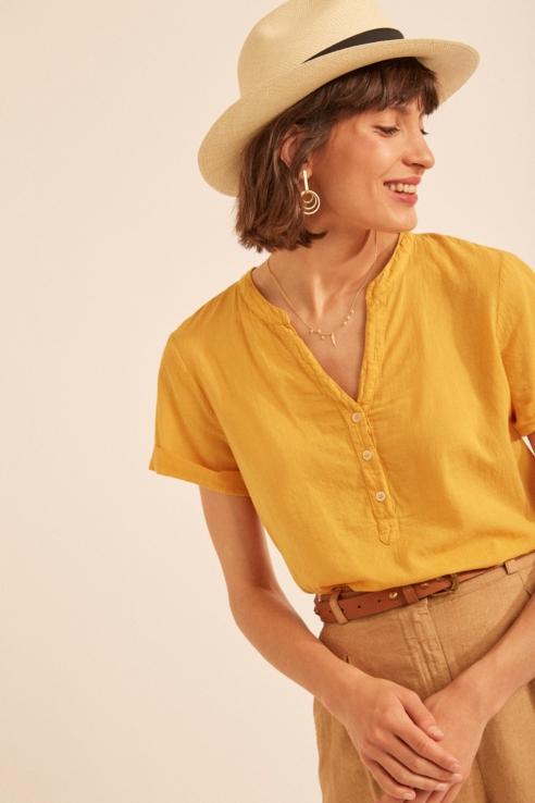 gold cotton shirt