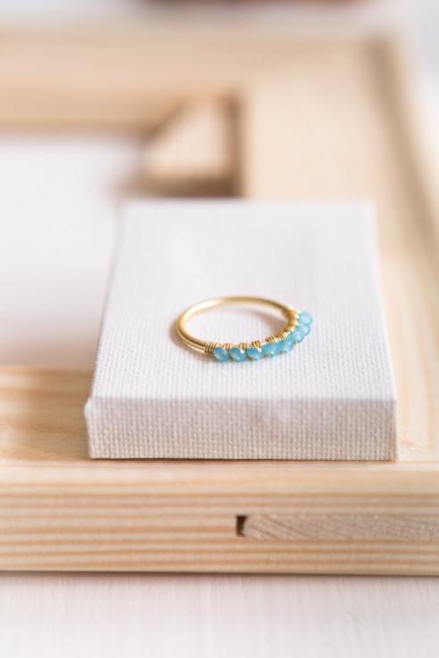 anillo topacio azul