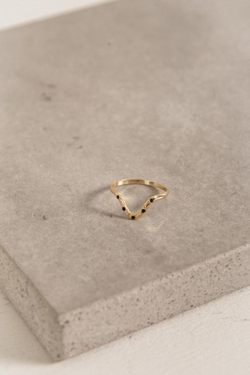 anillo circonitas azules