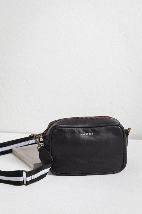 two-tone strap rectangular crossbody bag