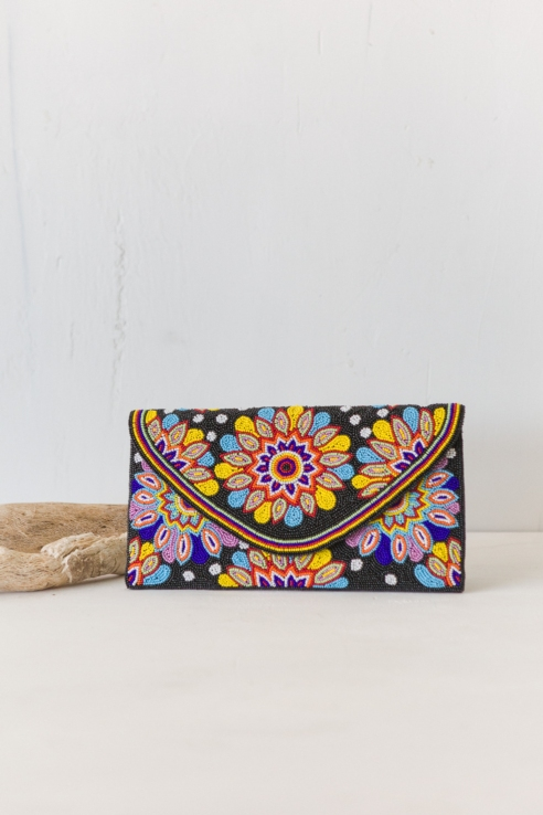 bandolera clutch diseño multicolor