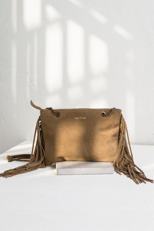 fringes suede crossbody bag