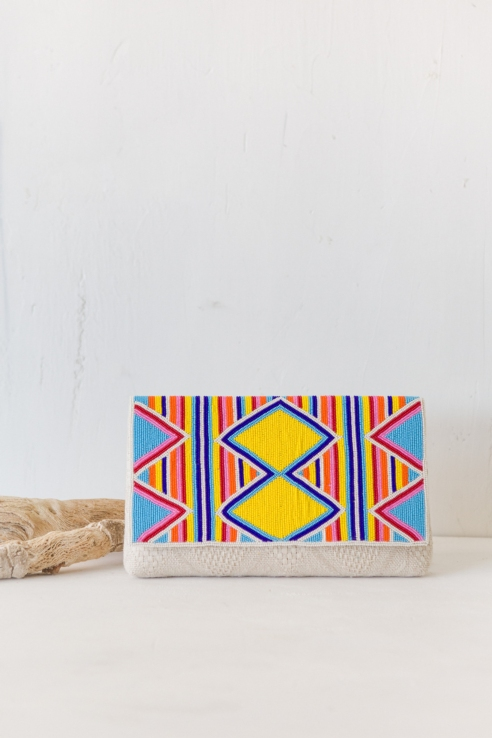 bandolera clutch multicolor