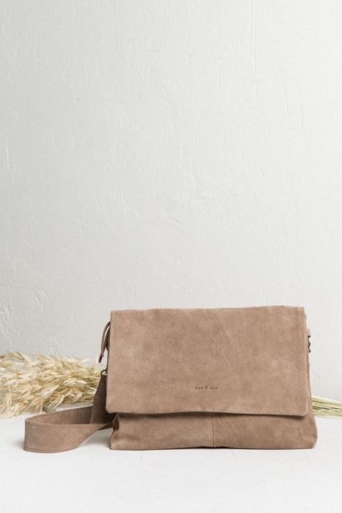 bolso bandolera rectangular ante