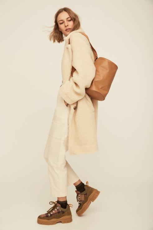 camel oval bag