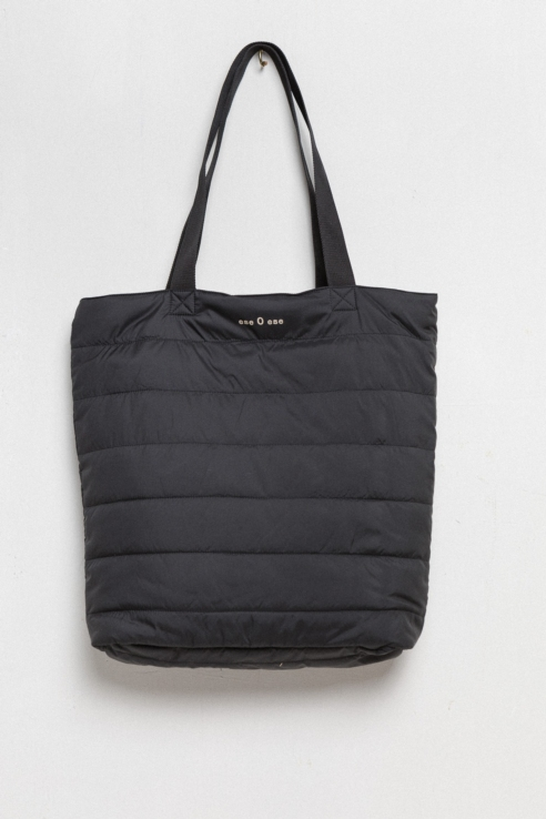 black feather shopping bag