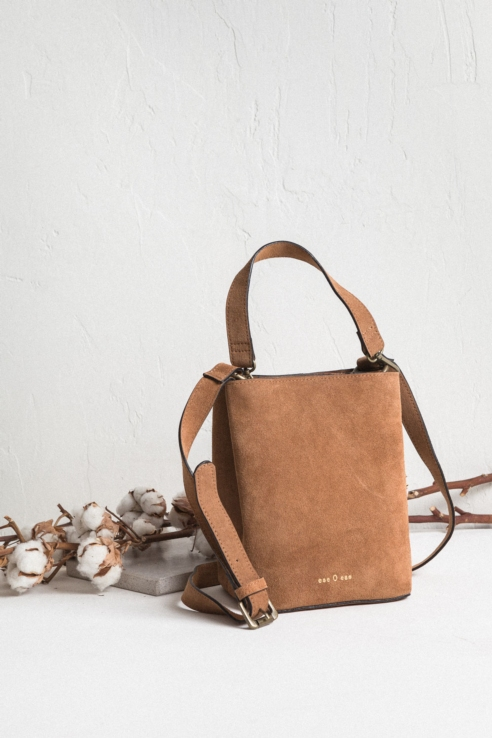 suede crossbody bag double compartment