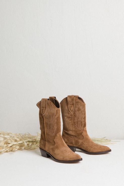 suede cowboy boots