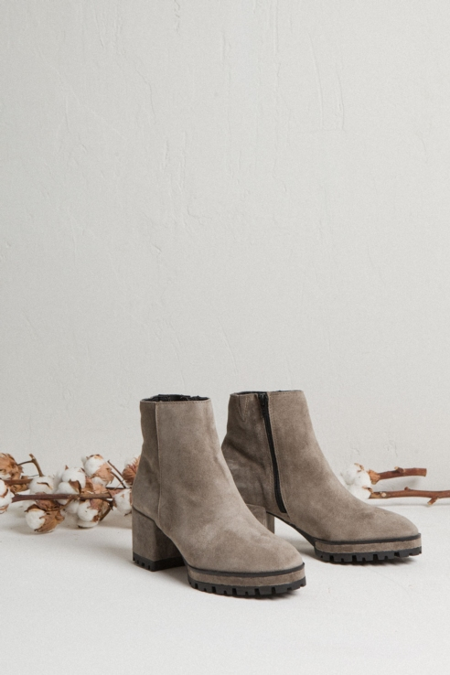 sand suede ankle boots