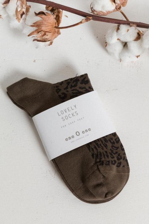 calcetines estampado leopardo