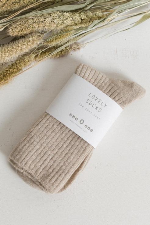 calcetines canalé crudo