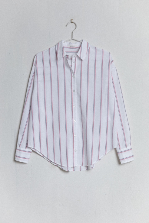 striped short shirt