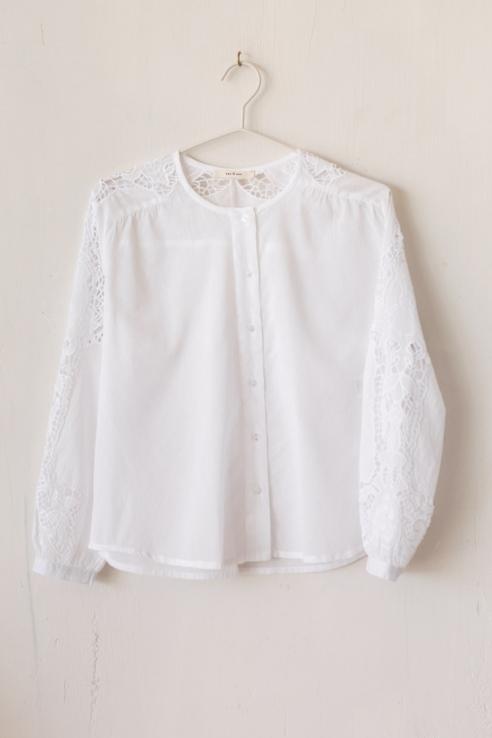 camisa manga bordada