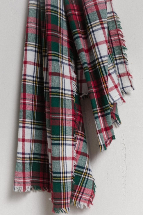 kilt print scarf