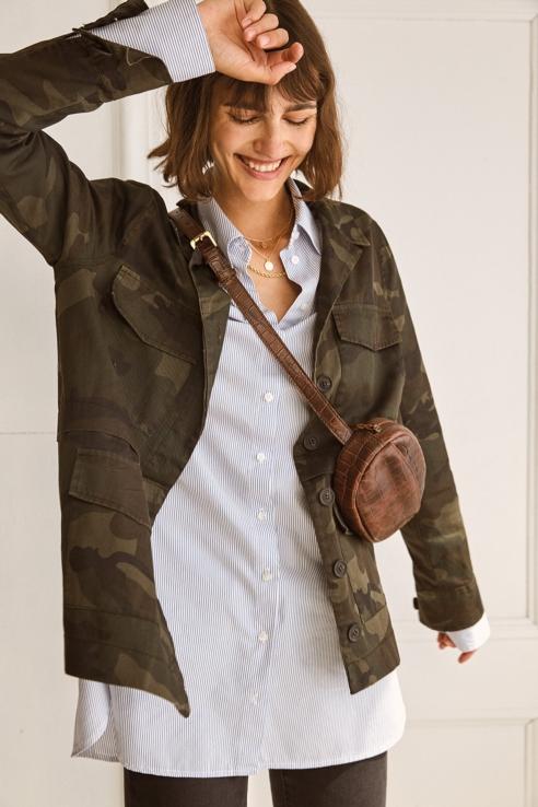 chaqueta estampado camuflaje