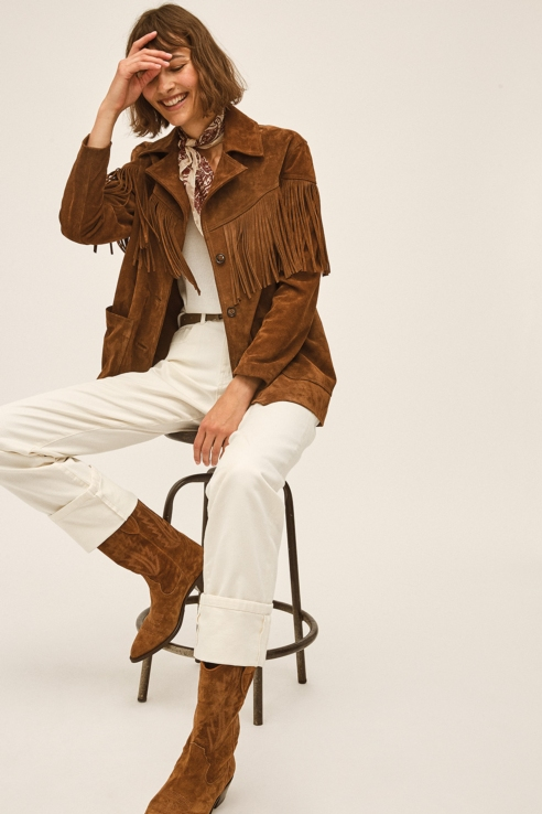 fringes suede jacket