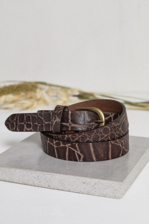 coco leather belt