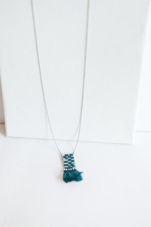 collar colgante tapiz