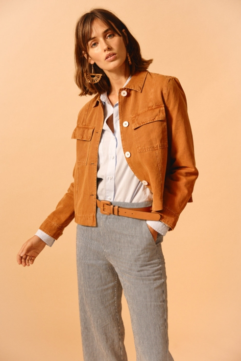 linen blend rustic jacket
