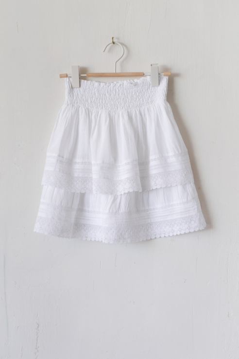 mini falda algodón blanco