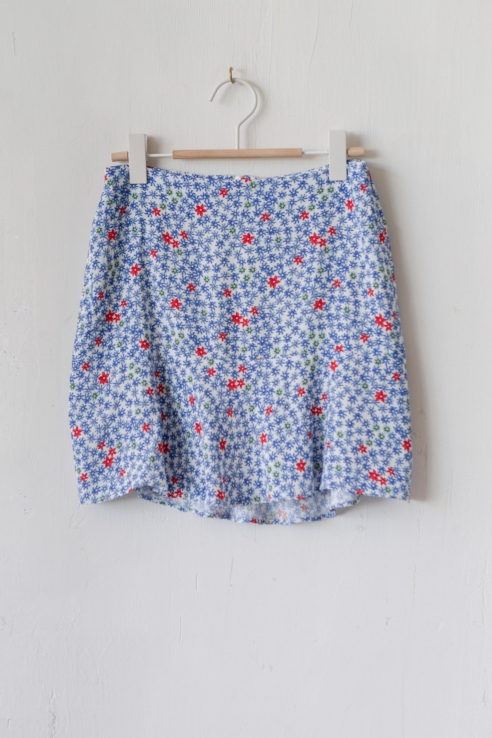 marine printed mini skirt