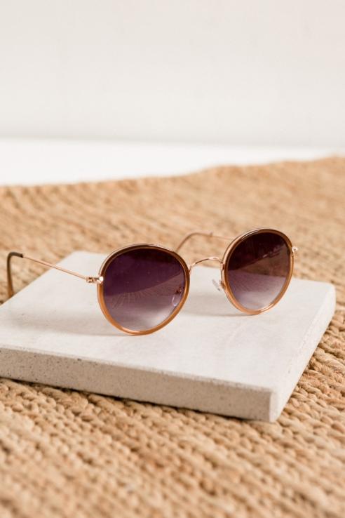 round copper sunglasses