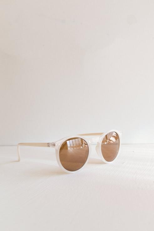 gafas redondas blanco nácar