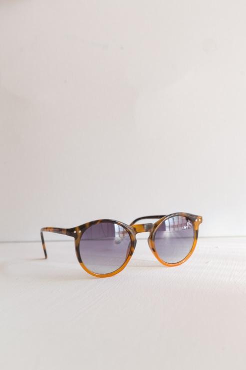 gafas redondas bicolor