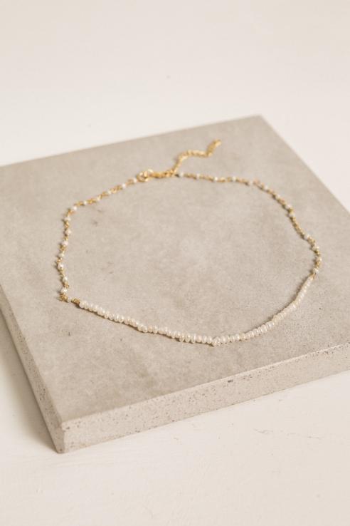 gargantilla mini perlas