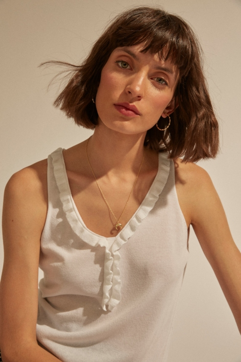 half moon pendant necklace