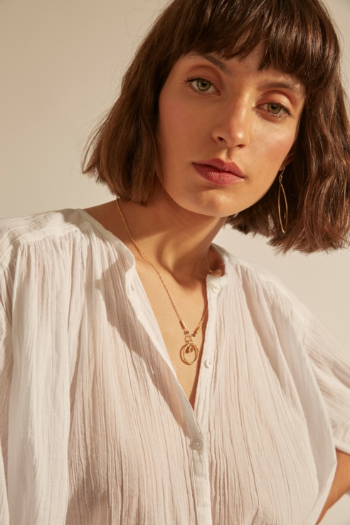 golded ring necklace