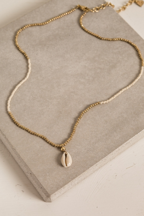 mini shell short necklace