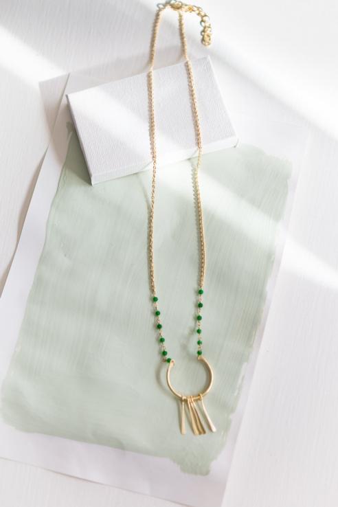 gargantilla piedras calcedonia verde