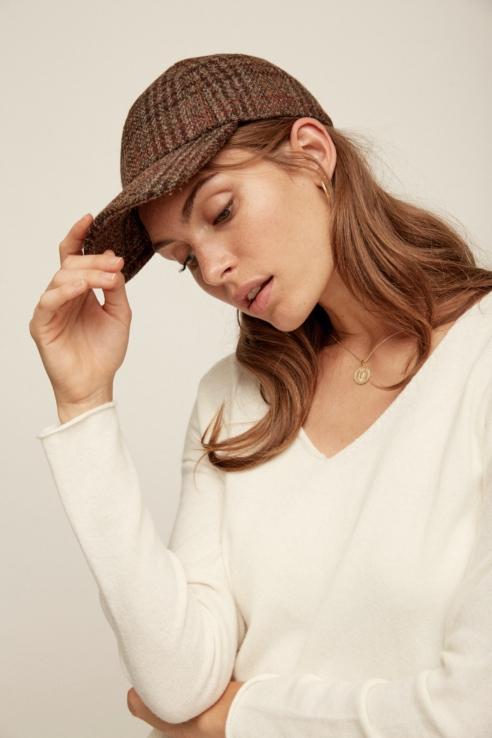 gorra estampado cuadros orejeras