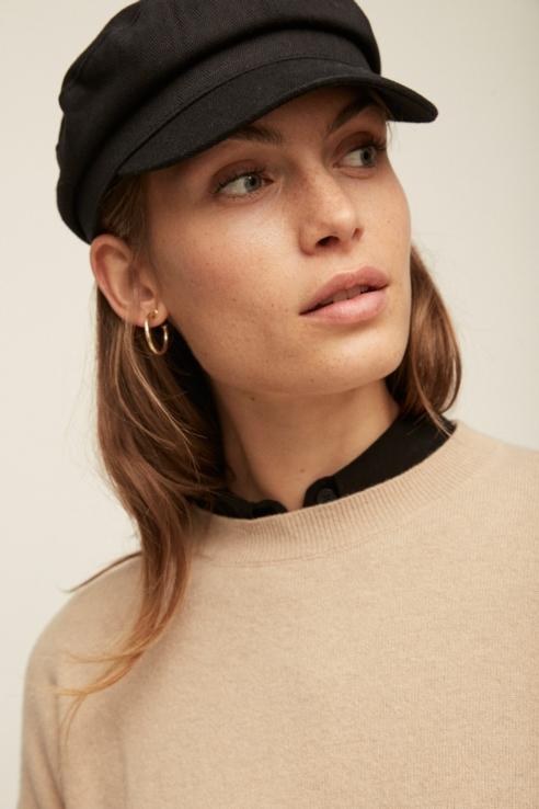 gorra estilo marinera negro