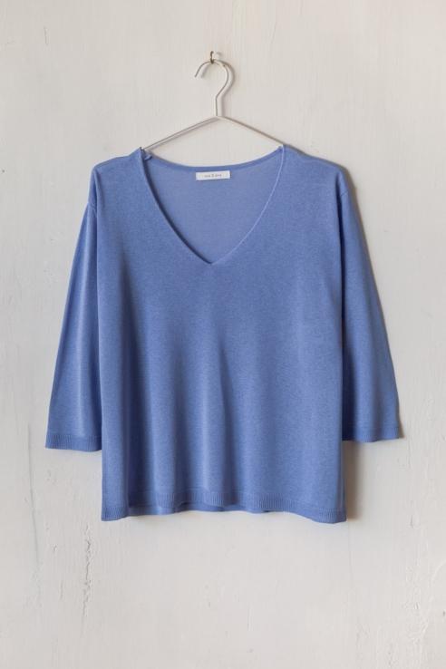 jersey punto liso azul