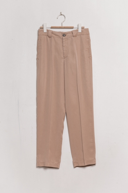 camel flowy trousers with pleats